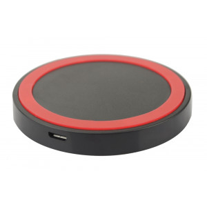 Wireless charger pad, 1A, Black-Red