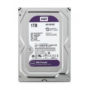 """WD Purple Surveillance Σκληρος Δισκος 3.5"""" 1TB, 64MB, 5400RPM, SATA III WD10PURZ"""