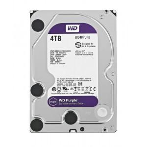 """WD Purple Surveillance Σκληρος Δισκος 3.5"""" 4TB, 64MB, 5400RPM, SATA III WD40PURZ"""