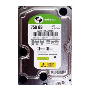 """MEDIAMAX Σκληρός Δίσκος 3.5"""", 750GB, 64MB, 7200RPM, SATA II, New WL750GSA6472B"""