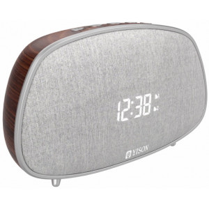 YISON ξυπνητήρι WS-1, bluetooth 5.0, 2x 5W, ένδειξη ώρας, AM/FM, ασημί WS-1-CF