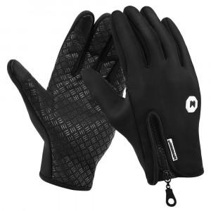 WOZINSKY χειμωνιάτικα γάντια άθλησης WTG1BK, για οθόνη αφής, XL, μαύρα WTG1BK