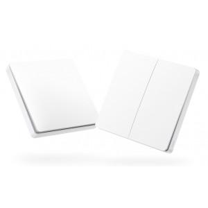 AQARA Smart διπλός διακόπτης WXKG02LM, Zigbee, λευκός WXKG02LM