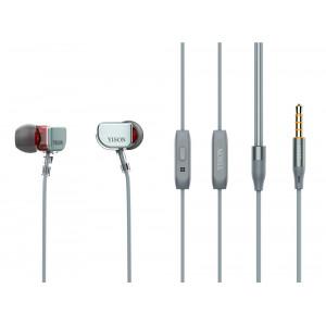 YISON Dynamic earphones με μικρόφωνο X600, 8mm, 1.2m, γκρι X600-GY