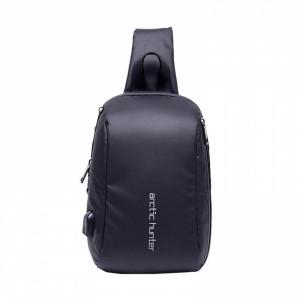 ARCTIC HUNTER Τσάντα Crossbody XB-00081-BK, USB, αδιάβροχη, μαύρη XB-00081-BK