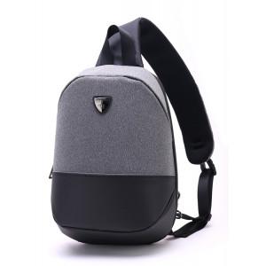 ARCTIC HUNTER τσάντα Crossbody XB00050-LG, tablet, αδιάβροχη, γκρι XB00050-LG