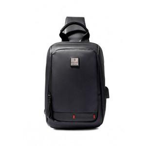 ARCTIC HUNTER Τσάντα Crossbody XB00088-BK, USB, αδιάβροχη, μαύρη XB00088-BK