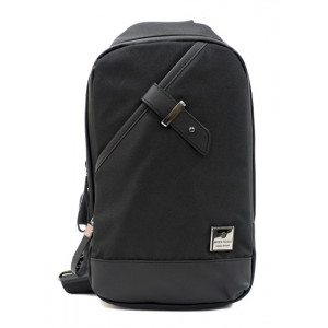 ARCTIC HUNTER Τσάντα Crossbody XB00089-BKRMB, USB, αδιάβροχη, μαύρη XB00089-BKRMB