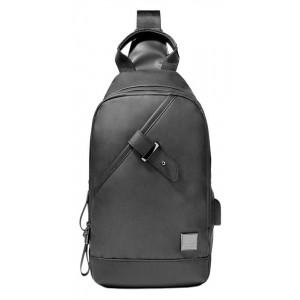 ARCTIC HUNTER Τσάντα Crossbody XB00089-GY, USB, αδιάβροχη, γκρι XB00089-GY