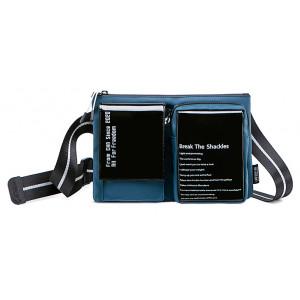 SUPER FIVE τσάντα ώμου XB00118-BL, μπλε XB00118-BL