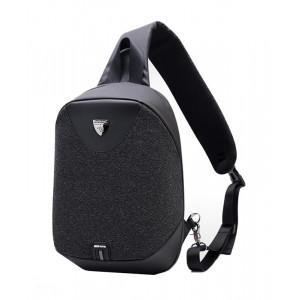 ARCTIC HUNTER τσάντα Crossbody XB0049-BK, αδιάβροχη, USB, μαύρη XB0049-BK