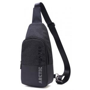ARCTIC HUNTER τσάντα Crossbody XB0058-BK, αδιάβροχη, μαύρη XB0058-BK