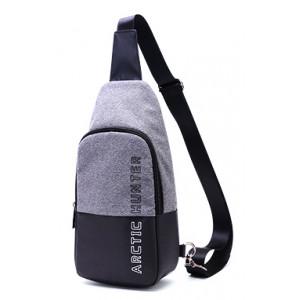 ARCTIC HUNTER τσάντα Crossbody XB0058-DG, αδιάβροχη, σκούρο γκρι XB0058-DG