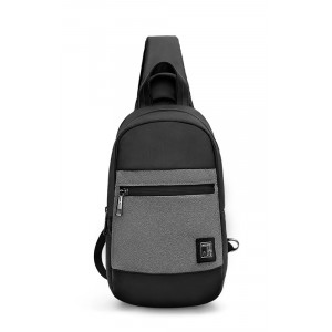 ARCTIC HUNTER τσάντα Crossbody XB0060-DG, αδιάβροχη, γκρι XB0060-DG