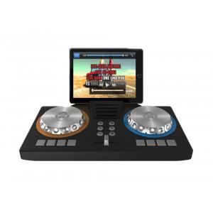 IDANCE Φορητο DJ controller XD101, 2 καναλιων, με φωτορυθμικα, μαυρο XD101