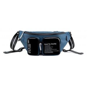 SUPER FIVE τσάντα μέσης Y00015-BL, μπλε Y00015-BL