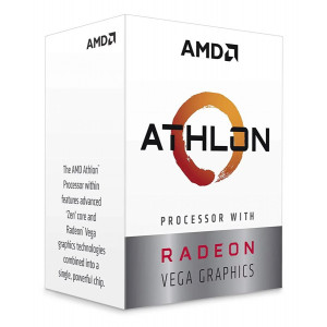 AMD CPU Athlon 3000G, 3.5GHz, 2 Cores, AM4, 5MB, Radeon Vega 3 Graphics YD3000C6FHBOX