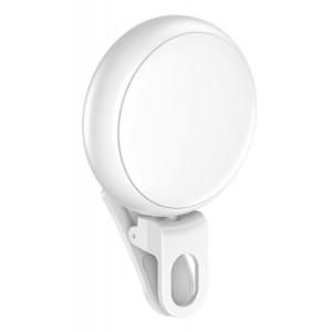 USAMS LED προβολέας για selfie, RGB led, 300mAh, λευκός ZB55D02