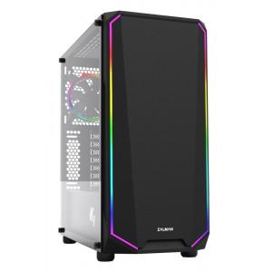 ZALMAN PC case K1 Rev.B mid tower, 458x210x450mm, 2x fan ZM-K1-REVB