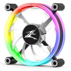 ZALMAN LED ανεμιστήρας ZM-LF120, 120mm, Double-Sided Ring, RGB ZM-LF120