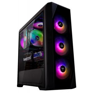 ZALMAN PC case ATX mid tower N5TF, 432x200x450mm, 4x RGB fans ZM-N5TF