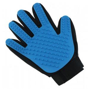 Γάντι βουρτσίσματος για κατοικίδια ZW5, μαύρο-μπλε ZW5