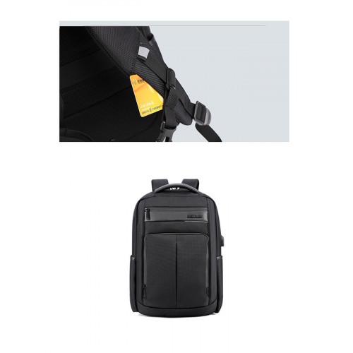 ARCTIC HUNTER τσάντα πλάτης B00121C-GY, laptop, USB, αδιάβροχη, γκρι B00121C-GY