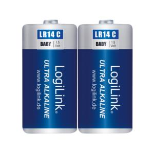 LOGILINK Battery Alkaline 1.5V Logilink LR14B2 2pcs