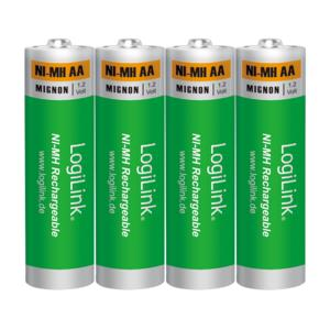 LOGILINK Battery NI-MH Rechargeable AA 1.2V Logilink LR6RB4 4pcs