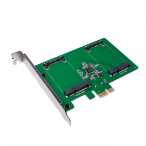 LOGILINK Pci Express to 2x mSATA SSD Logilink PC0078