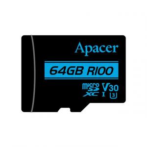 APACER Memory Card Micro SDXC UHS-I U3 Class10 64GB Apacer V30 R100
