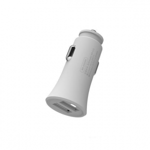 Car Charger WK 2.4A USBx2 White WP-C13