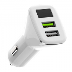 WK Quick Car Charger 3.0 WK 4.8A USBx2 WP-C16 White