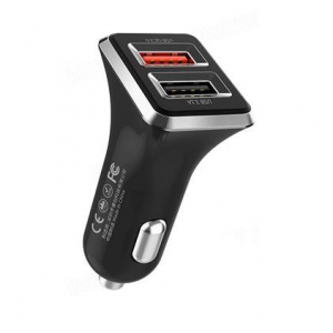 WK Car Charger WK Dual USB 3.1A & QC3.0 Black WP-C19