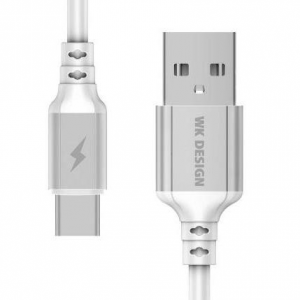 WK Charging Cable WK TYPE-C White 1m WDC-073 Auto Cut-Off