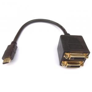 HDMI Splitter M to 2xDVI F Aculine AD-042