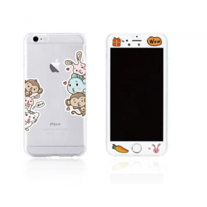 Tempered Glass WK for i6 + 3D TPU Case WTP003/ML004