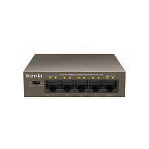 Fast Εthernet 5 port switch Tenda POE TEF1105P