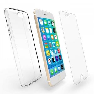 Tempered Glass WK for A9 2016 White 3D Curved Edge +TPU Case WTP002