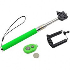 Monopod Selfie Stick με χειριστηριο Bluetooth Z07-1 για Smartphones ή action cameras Green