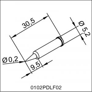 0102PDLF02 ERSA ΑΝΤΑΛΛΑΚΤΙΚΟ ΑΙΧΜΗ 0,2mm 14-01-0007