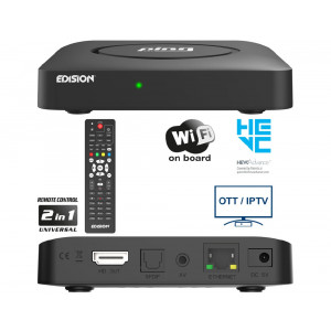 EDISION PING Full HD Linux OTT IPTV ΔΕΚΤΗΣ H.265 HEVC WIFI