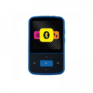 Crypto Mp1500BT Mp4 Series 1,5 ' FM Radio Pedometer Bluetooth 8 GB Flash (ΜΑΥΡΟ-ΜΠΛΕ)