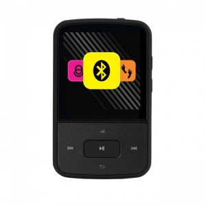 Crypto Mp1500BT Mp4 Series 1,5 ' FM Radio Pedometer Bluetooth 8 GB Flash (ΜΑΥΡΟ)