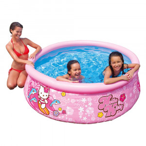 KIDS SWIMMING POOL HELLO KITTY EASY SET POOL 28104