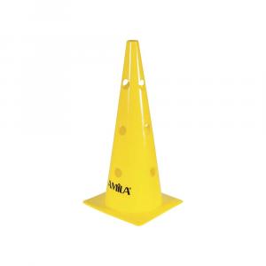 Κωνος 46cm απο σκληρο PVC κιτρινος