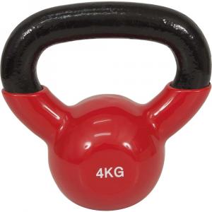 Kettlebell με επενδυση Βινυλιου 4kg (κοκκινο)