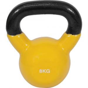 Kettlebell με επενδυση Βινυλιου 8kg (κιτρινο)