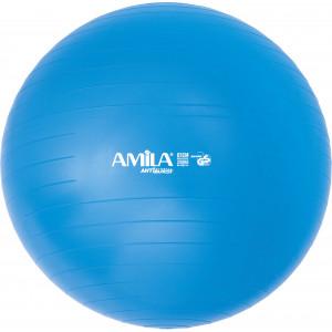 Μπάλα γυμναστικής AMILA GYMBALL 65cm Μπλε