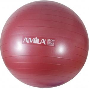 Μπάλα Γυμναστικής AMILA GYMBALL 75cm Κόκκινη